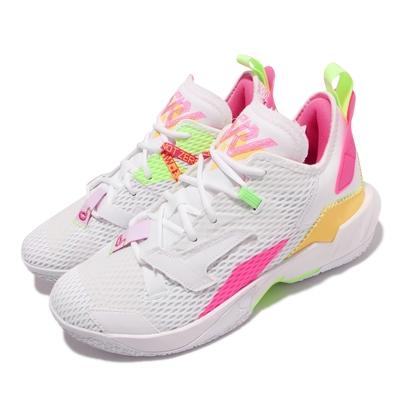 Nike 籃球鞋 Why Not Zer 04 PF 男鞋 喬丹 氣墊 避震 包覆 XDR外底 球鞋 白 粉 CQ4231-102