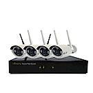 宇晨I-Family免配線/免設定960P四路式無線監視錄影套裝組一機四鏡