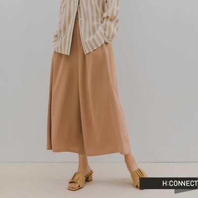 H:CONNECT 韓國品牌 女裝 -純色鬆緊雪紡打褶寬褲