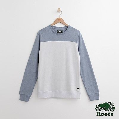 Roots-男裝- 佛雷哲圓領上衣- 藍