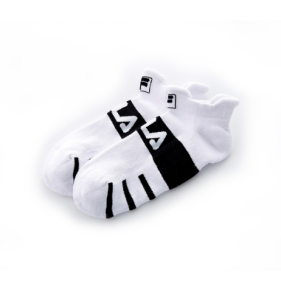FILA 基本款半毛巾踝襪-白 SCT-5001-WT