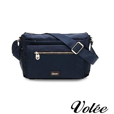 Volee好旅行系列多層拉鍊肩背包-英國藍