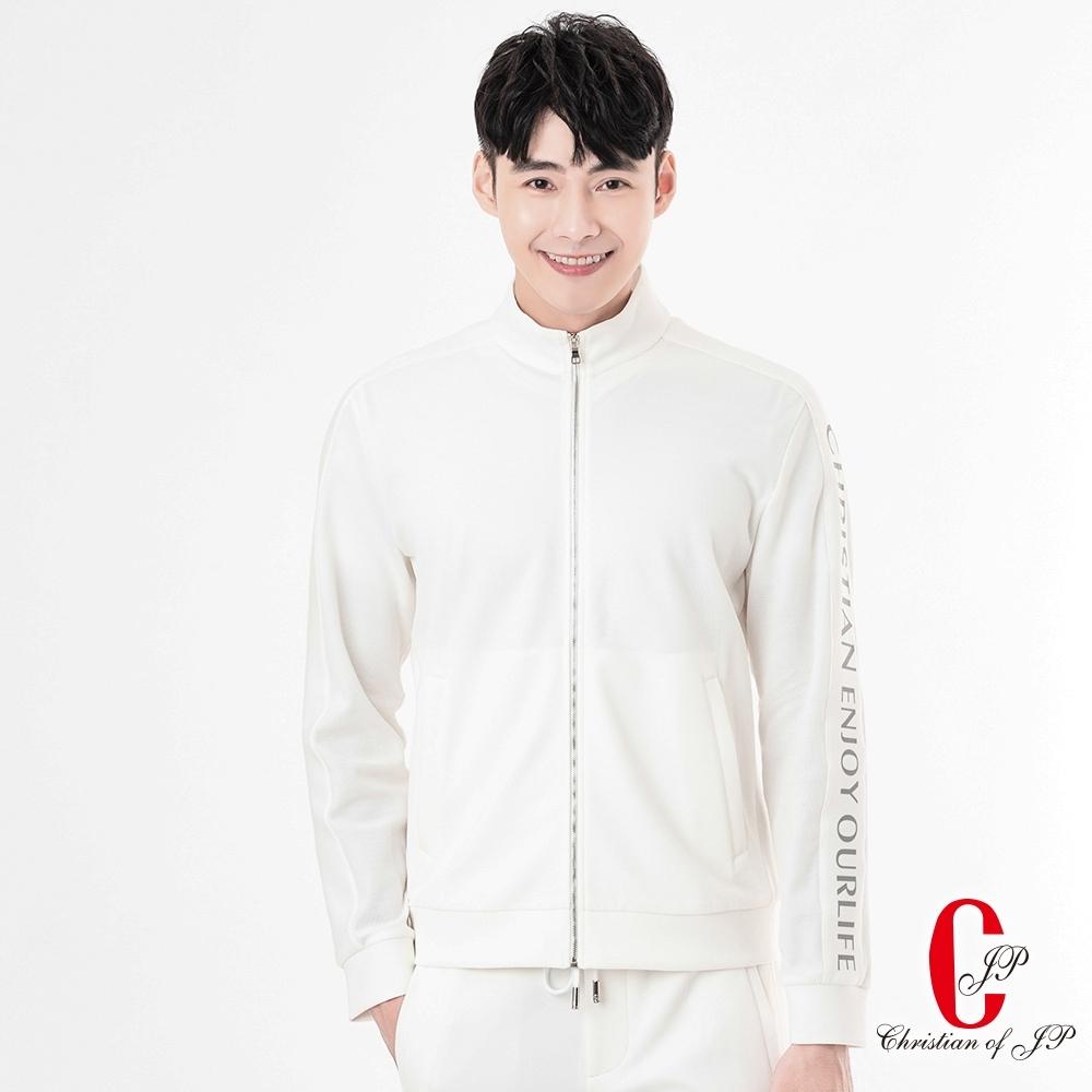 Christian 清新悠活素面運動外套_白(MW801-80)