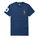 Polo Ralph Lauren 年度熱銷刺繡彩大馬圓領素面短袖T恤-麻花藍色 product thumbnail 1