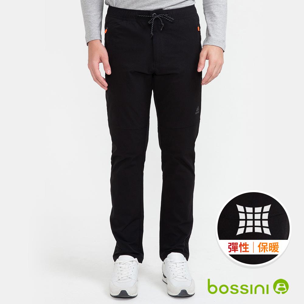 bossini男裝-彈性輕便保暖褲(外層加厚)02黑