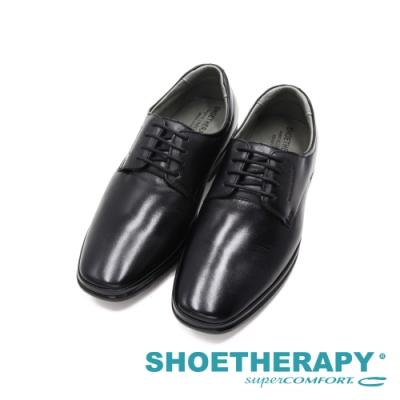 SAPATOTERAPIA巴西FUSION方頭氣墊感彈力綁帶正裝皮鞋 男鞋-黑