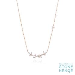 14K玫瑰金鋯石項鍊