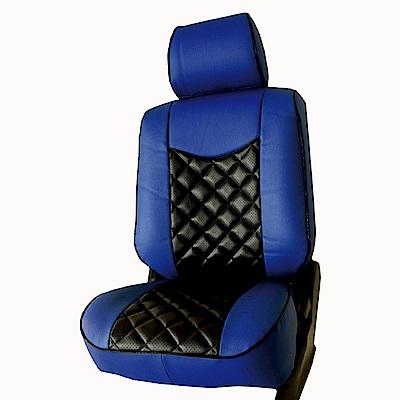 【葵花】量身訂做-汽車椅套-日式合成皮-開運格子E款-露營車款-雙前座-第一排2人座