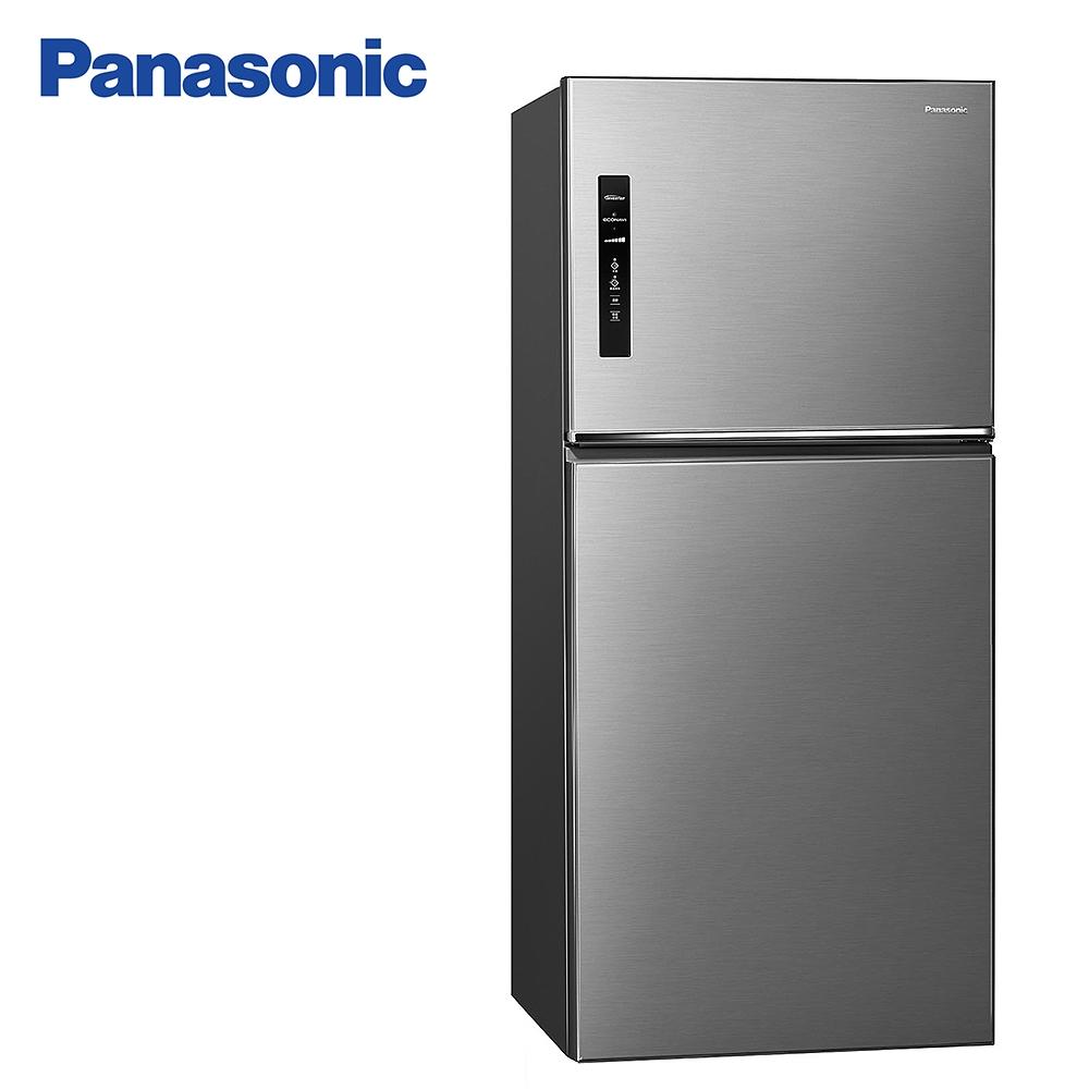 Panasonic 國際牌650公升一級能效雙門變頻冰箱 NR-B651TV-S晶漾銀