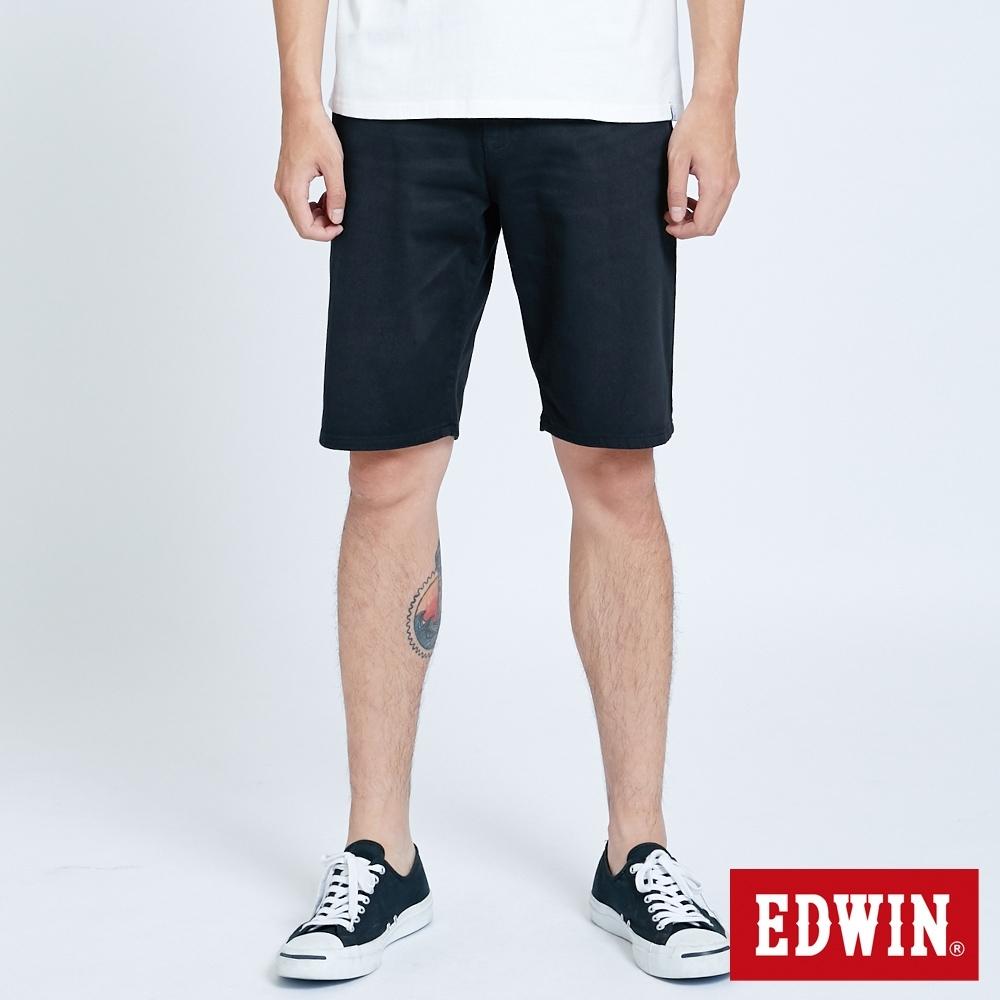 EDWIN JERSEYS 迦績 EJ2 涼感 EFS 休閒短褲-男-黑色