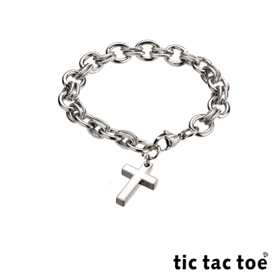 tic tac toe 白鋼手鍊 十字架 TI-648-2-7