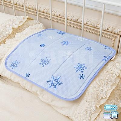 日本SANKI 雪花紫 冰涼枕坐墊 40x40cm <b>1</b>入
