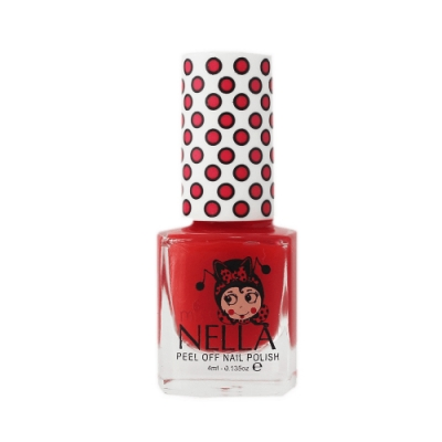 英國 【MISS NELLA】兒童水性可撕式安全指甲油 小丑茄紅 MN22