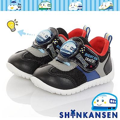 三麗鷗 新幹線童鞋 電燈鞋 透氣輕量抗菌防臭休閒鞋-黑