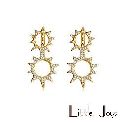 Little Joys 原創設計品牌 雙陽鋯石耳釘 925銀鍍金