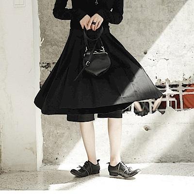 早秋簡約韓版港風休閒百褶裙褲裙K-257設計所在