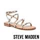 STEVE MADDEN-TRAVEL個性鉚釘繫帶平底涼鞋-蛇皮白 product thumbnail 1