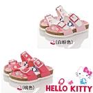Hello Kitty 45週年限量童鞋 輕量腳床型鞋-白粉.桃