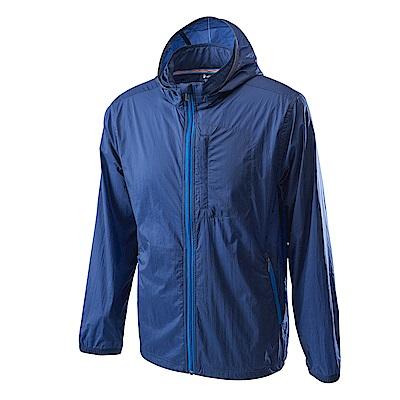 Wildland荒野男15D超輕低防水高透氣外套深藍