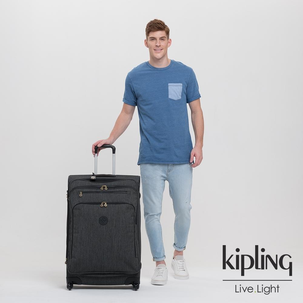 Kipling 復古質感丹寧黑31吋多隔層實用行李箱-YOURI SPIN 78