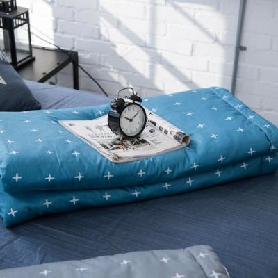 OLIVIA  阿波羅 藍  5x6尺夏日涼被   200織精梳純棉 台灣製