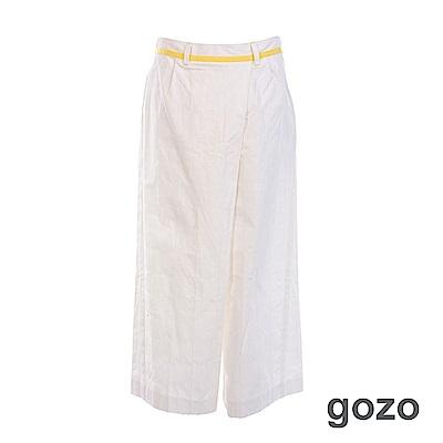 gozo 斜檔格紋寬版九分褲(三色)