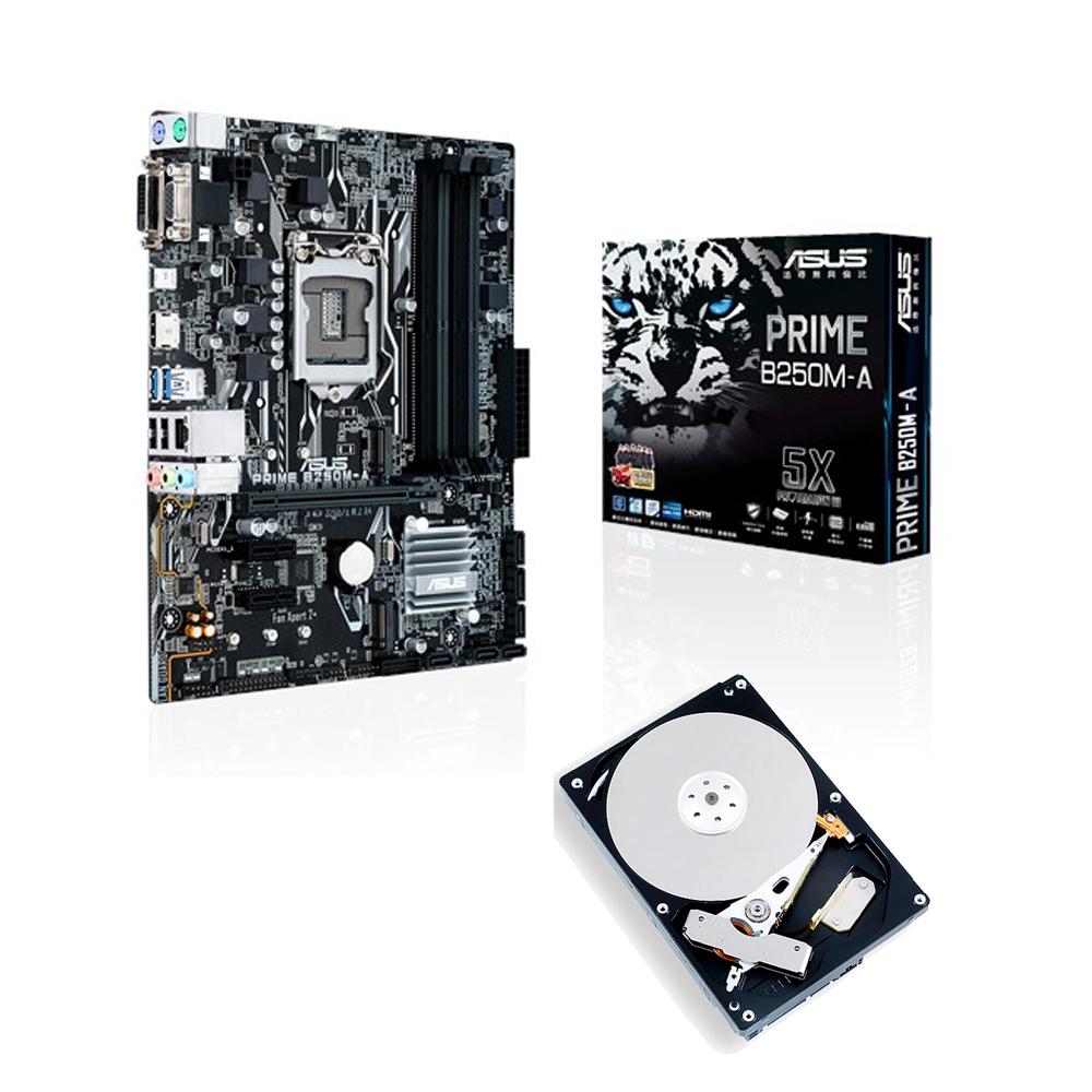 華碩 PRIME B250M-A +TOSHIBA 1TB硬碟