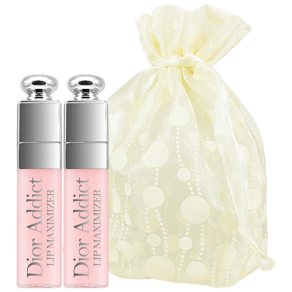 Dior 迪奧 豐漾俏唇蜜精巧版(#001)(2ml)2入旅行袋組