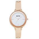 GOTO奢華簡約070系列時尚手錶-IP玫x白/39mm