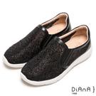 DIANA 絕美魅力--奢華水鑽微尖極修飾輕量休閒鞋-黑