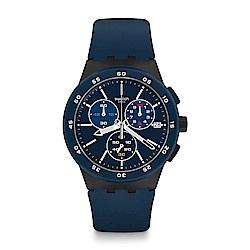 Swatch  原創系列 BLUE STEWARD 藍色霧霾
