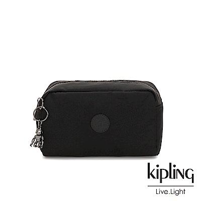 Kipling 極致低調黑長形化妝包-GLEAM
