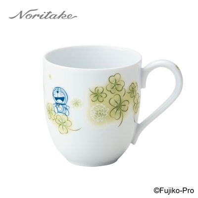 【NORITAKE】哆啦A夢-花卉系列  三葉草馬克杯290ML