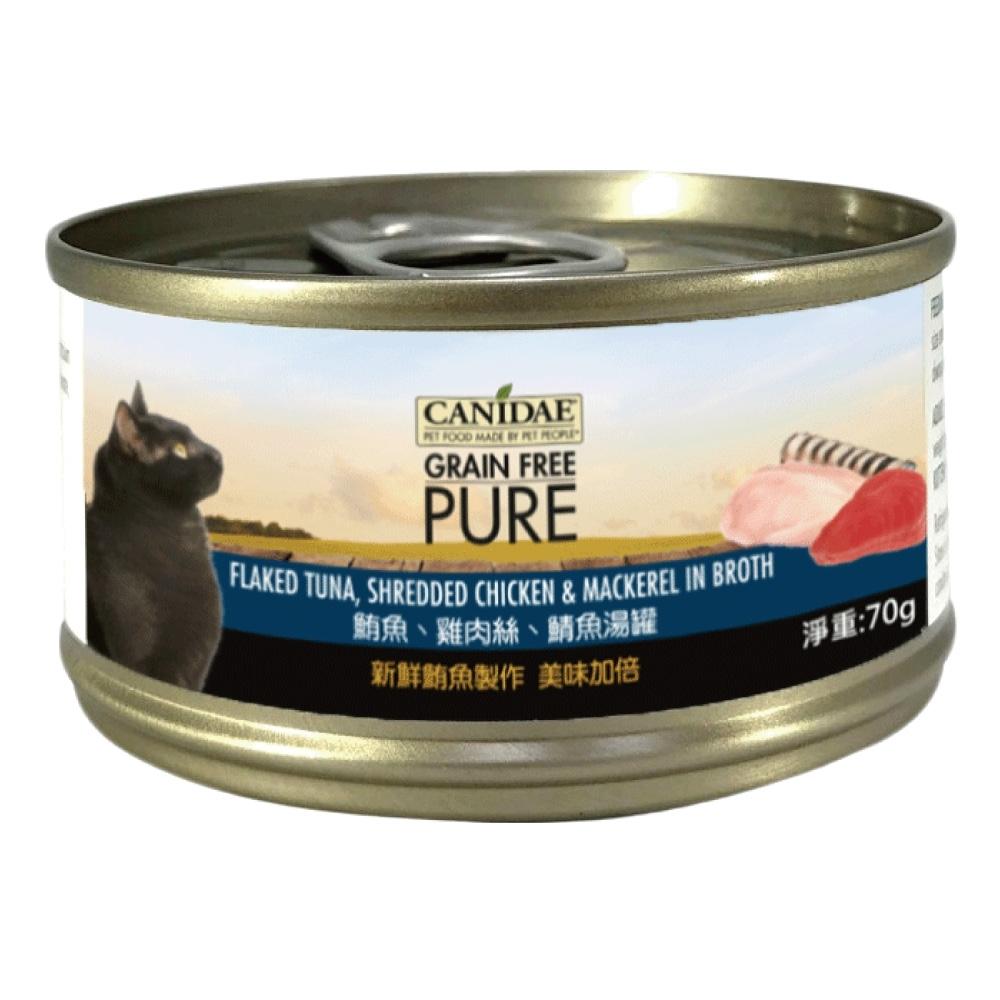 CANIDAE 無穀主食罐鮪魚+雞肉絲+鯖魚湯罐 (70gX24罐)
