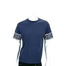 KENZO 幾何字母LOGO深藍色棉質短袖T恤(男款)