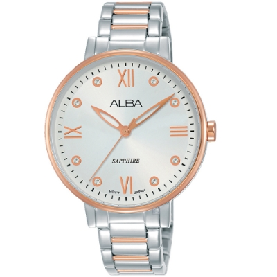 ALBA雅柏輕熟時尚女錶(AH7T40X1)-雙色