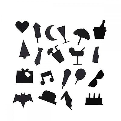 hoi! Design Letters 留言板符號- Party 黑 (H014241059)