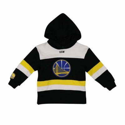 NBA Style C&S 兒童 美式拼接 連帽上衣 勇士隊