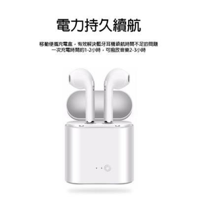 藍牙耳機 I7 迷你版 MINI版本 新款 磁吸 充電倉 雙耳 無線