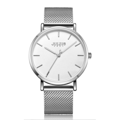 JULIUS聚利時 天使之戀簡約米蘭錶帶腕錶-五色/36mm