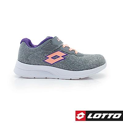 LOTTO 義大利 童 MEGALIGHT 輕量跑鞋 (灰)