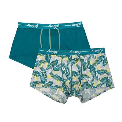 sloggi men Start系列合身平口褲2件包  綠色世界 RC76-9276I