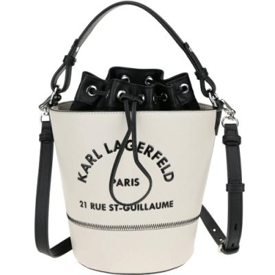 KARL LAGERFELD Rue St Guillaume 牛皮手提/斜背水桶包(榛木色)