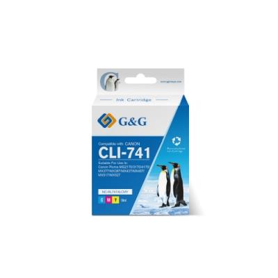 【G&G】for CANON CL-741XL/ CL741XL 彩色高容量相容墨水匣 / 適用PIXMA MG2170/ MG3170/ MG4170/ MG2270/ MG3270/ M...