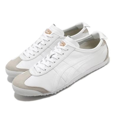 Onitsuka Tiger 休閒鞋 Mexico 66 復古 低筒 男女鞋 OT 鬼塚虎 皮革 基本款 情侶穿搭 白 灰 DL4080101