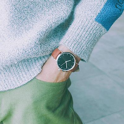 watch-123 印象之旅-玫金框低調經典刻度手錶 (3色任選)