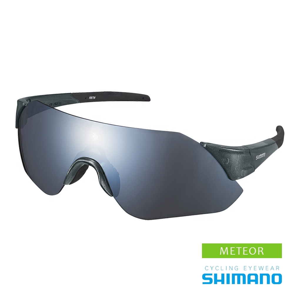 SHIMANO AEROLITE 運動太陽眼鏡 透明銀