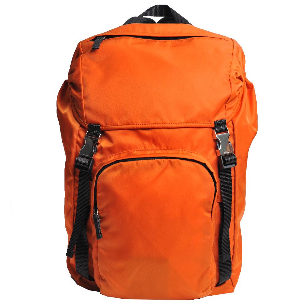 PRADA TESSUTO MONTAGN 經典尼龍布雙肩帶後背包(鮮橘)PRADA