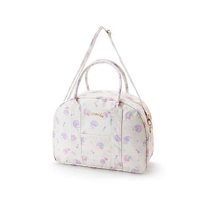 Sanrio 雙星仙子防潑水加工輕量旅用提背袋/波士頓包(粉彩星月)