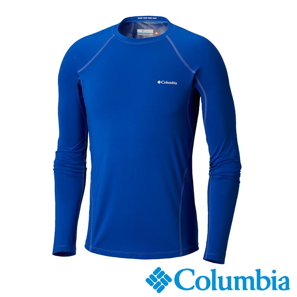 Columbia哥倫比亞 男款-Omni-HEAT保暖快排長袖上衣-寶藍
